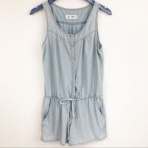 AG + Liberty Arts Fabric Emma Chambray Romper